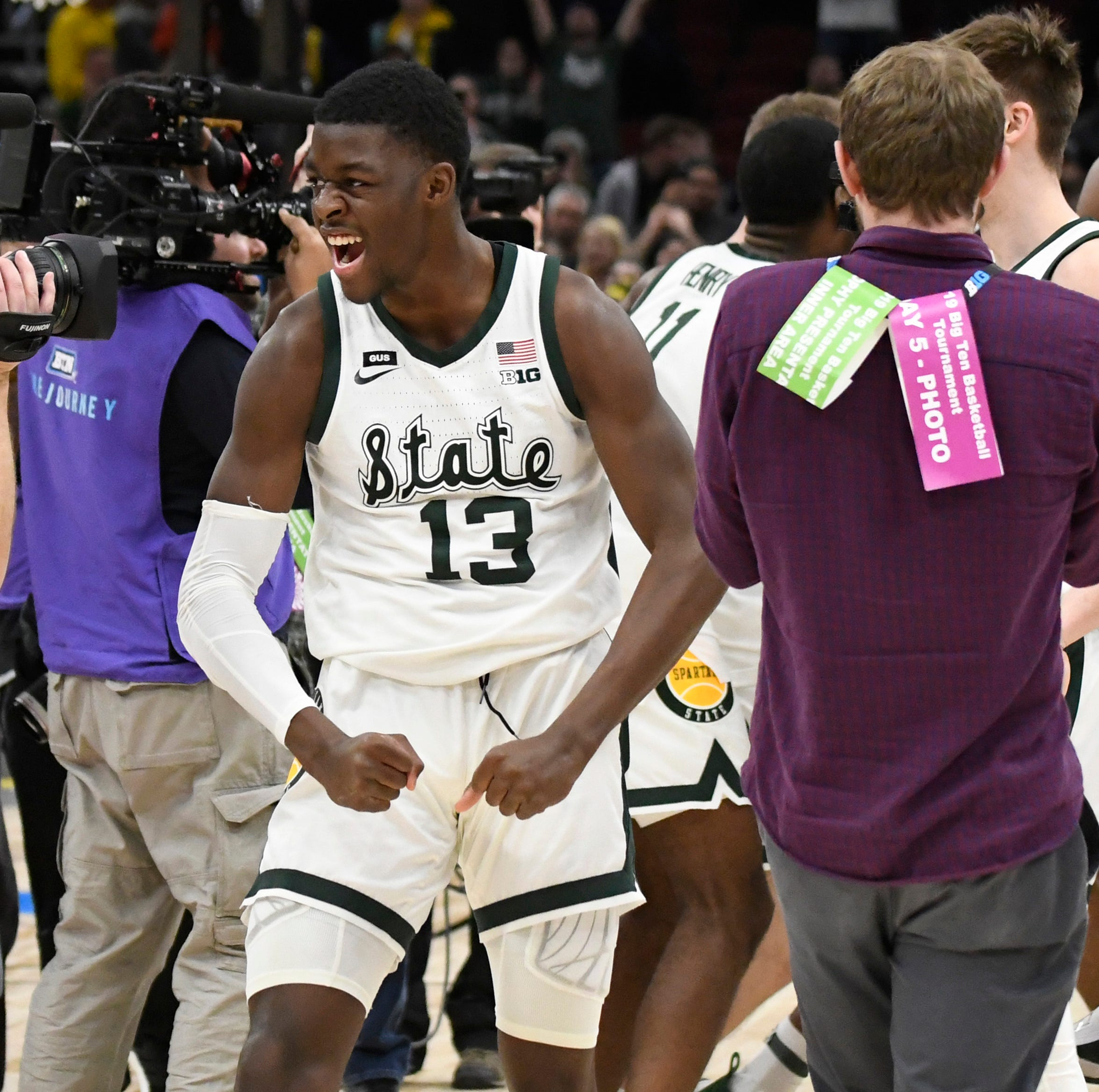Couch: Minus Kyle Ahrens, Gabe Brown takes the stage for MSU. His excitement is palpable.