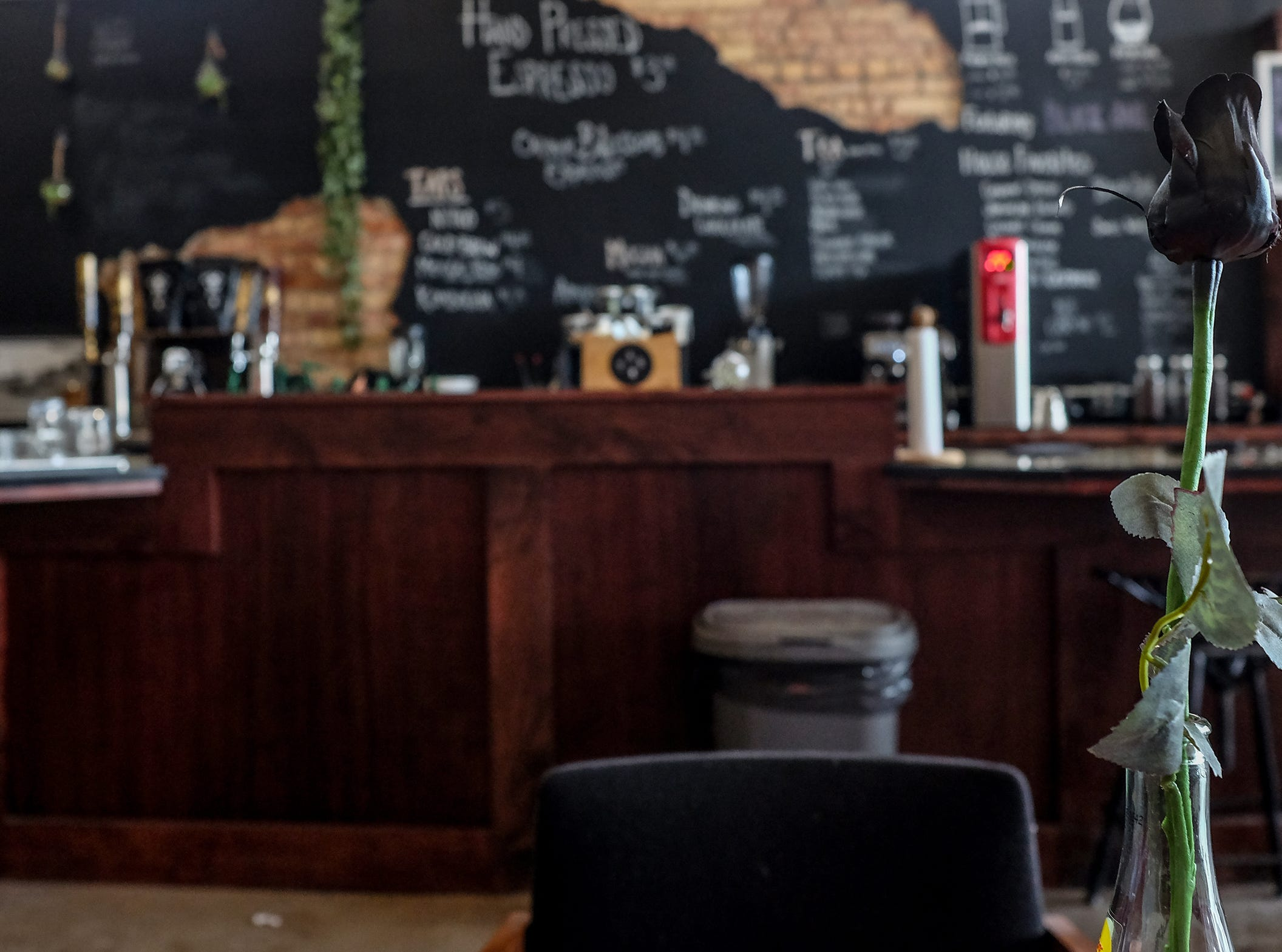 The Crafted Bean in Lansing shown here, and DeWitt, have a unique ambiance as well as craft coffees.