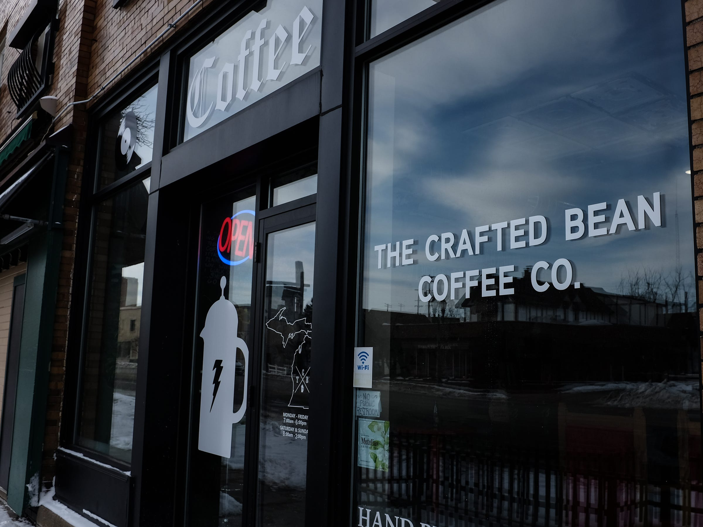 The Crafted Bean Coffee Company is on E. Michigan Avenue in Lansing.