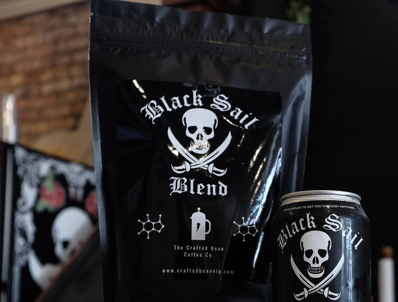 Black Sail is The Crafted Bean Company brand of coffee used for cold brews and bean coffee.