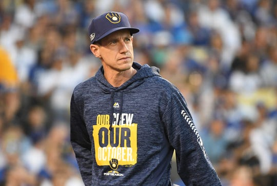 Manager Craig Counsell and the Brewers had a sensational 12-game win streak spanning the end of the 2018 regular season through Game 1 of the NLCS. They finished one game short of the World Series, however.
