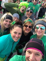 Runners and walkers at the Lucky Leprechaun 7K