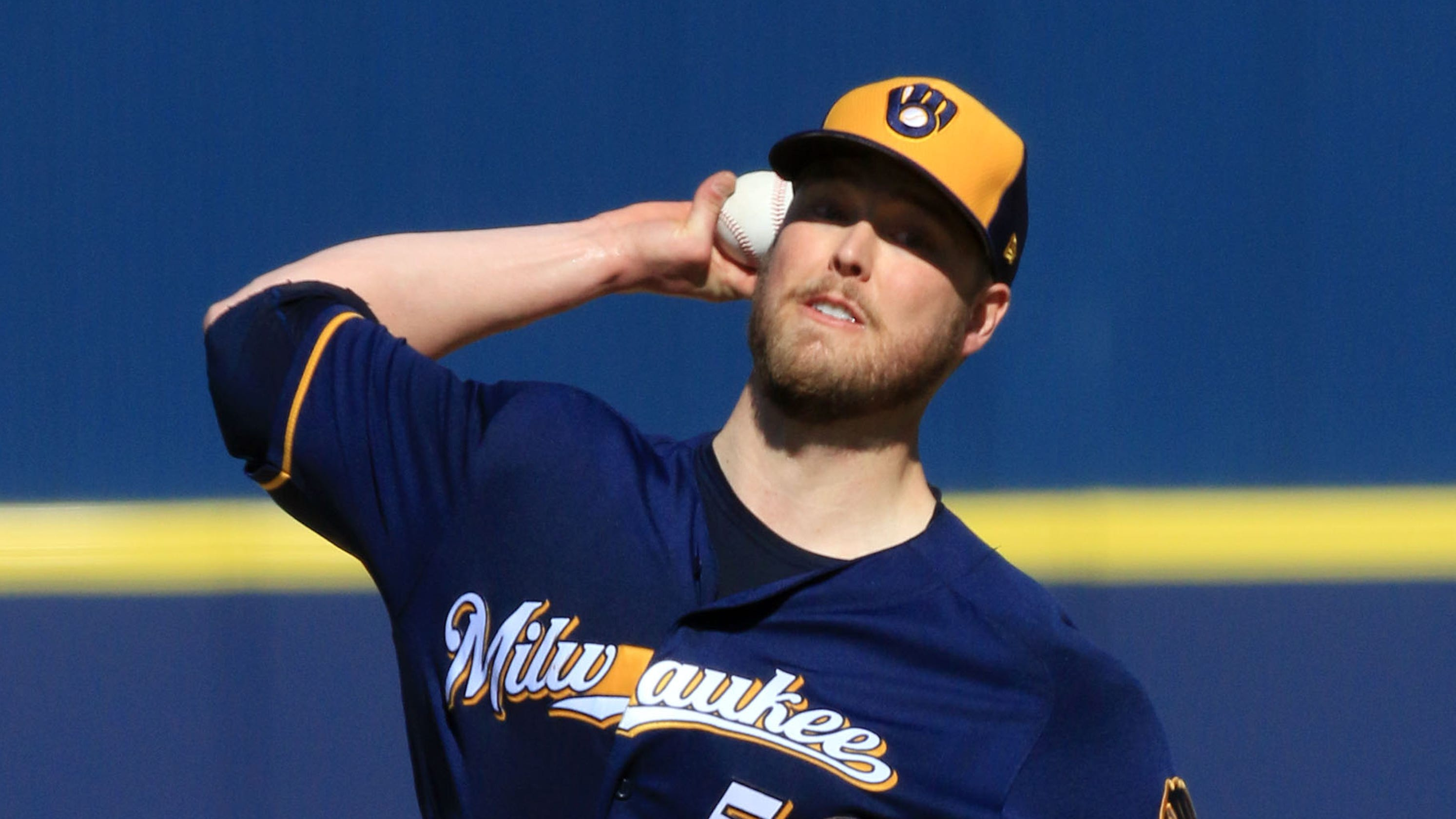 d946a15b4 Brewers  Jimmy Nelson strong in second Cactus League appearance