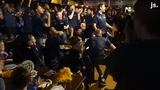Marquette men's basketball celebrates their number 5 seed NCAA Tournament selection. They will play 12th-seeded Murray State on Thursday.