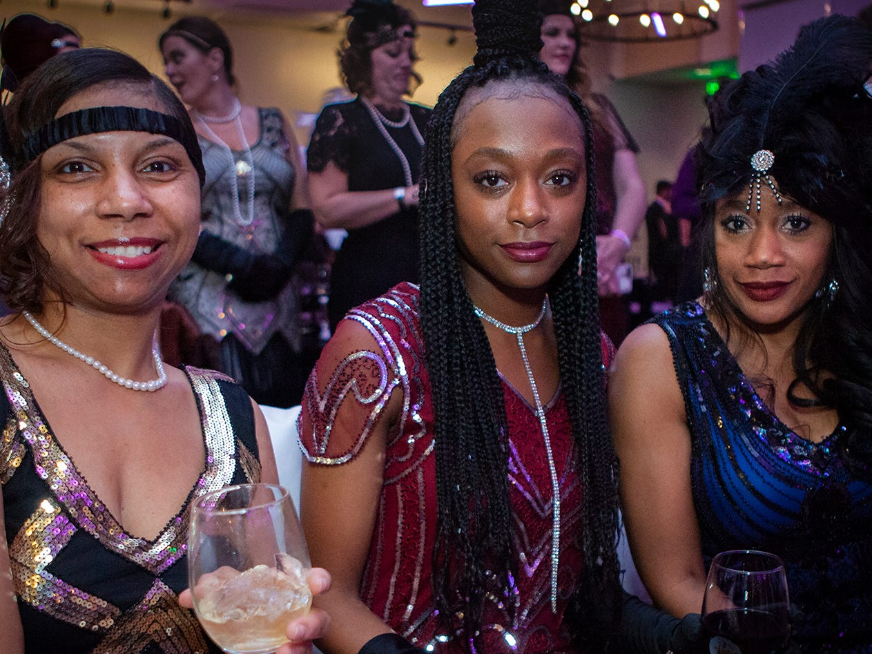 Shanisha Cooper, Danielle Holman and Felicia Holman at The Gatsby Party, hosted by the Alzheimer's Association at The View at Fountains Saturday, March 16, 2019.