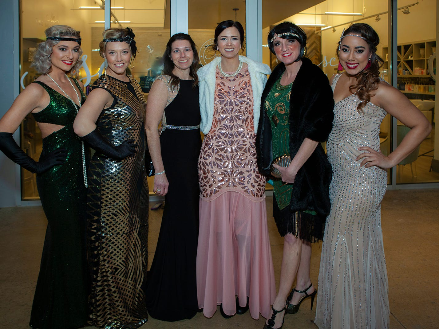 Brittany Brandon, Natalie Burt, Melanie Rooker , Heather Bills, Christy Dyer and Amelia Dap at The Gatsby Party, hosted by the Alzheimer's Association at The View at Fountains Saturday, March 16, 2019.