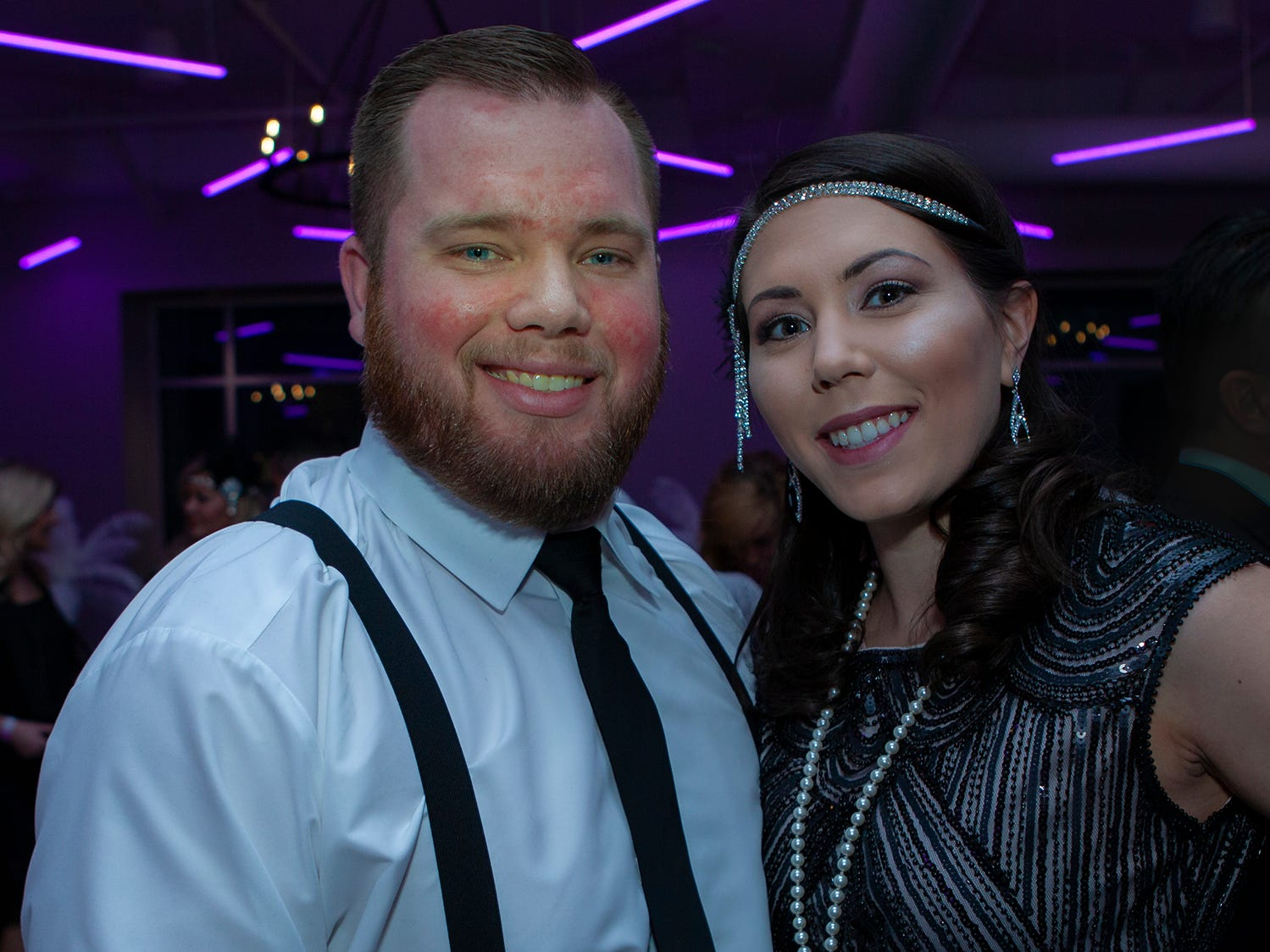 Matt and Jamie Herrington at The Gatsby Party, hosted by the Alzheimer's Association at The View at Fountains Saturday, March 16, 2019.