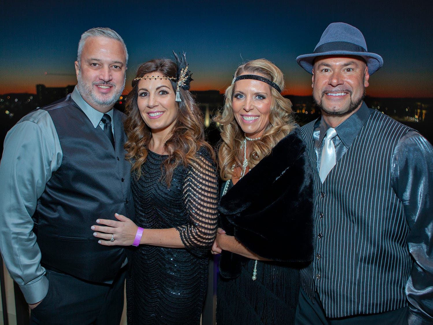 Stan and Monique Maclin with Amy and Chad Hill at The Gatsby Party, hosted by the Alzheimer's Association at The View at Fountains Saturday, March 16, 2019.