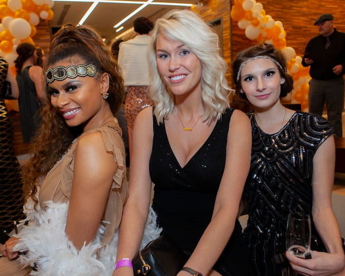 Evony Thompson, Devon Owen and Savannah Jenkins at The Gatsby Party, hosted by the Alzheimer's Association at The View at Fountains Saturday, March 16, 2019.