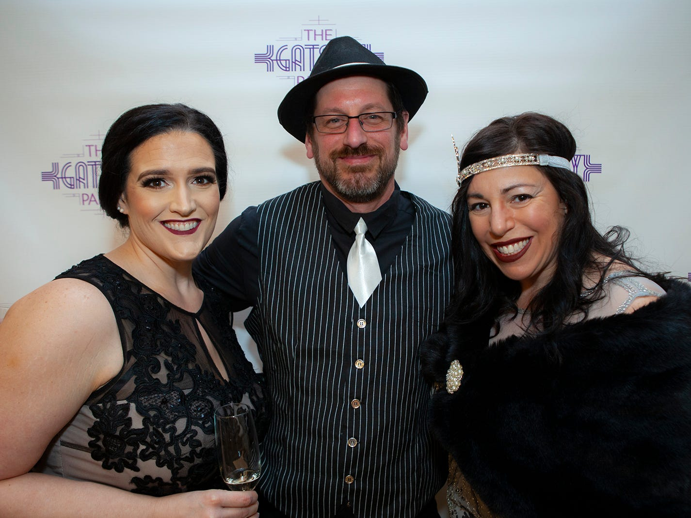 Serena Lack ,Ted Ramsey and Ariana Bencic at The Gatsby Party, hosted by the Alzheimer's Association at The View at Fountains Saturday, March 16, 2019.