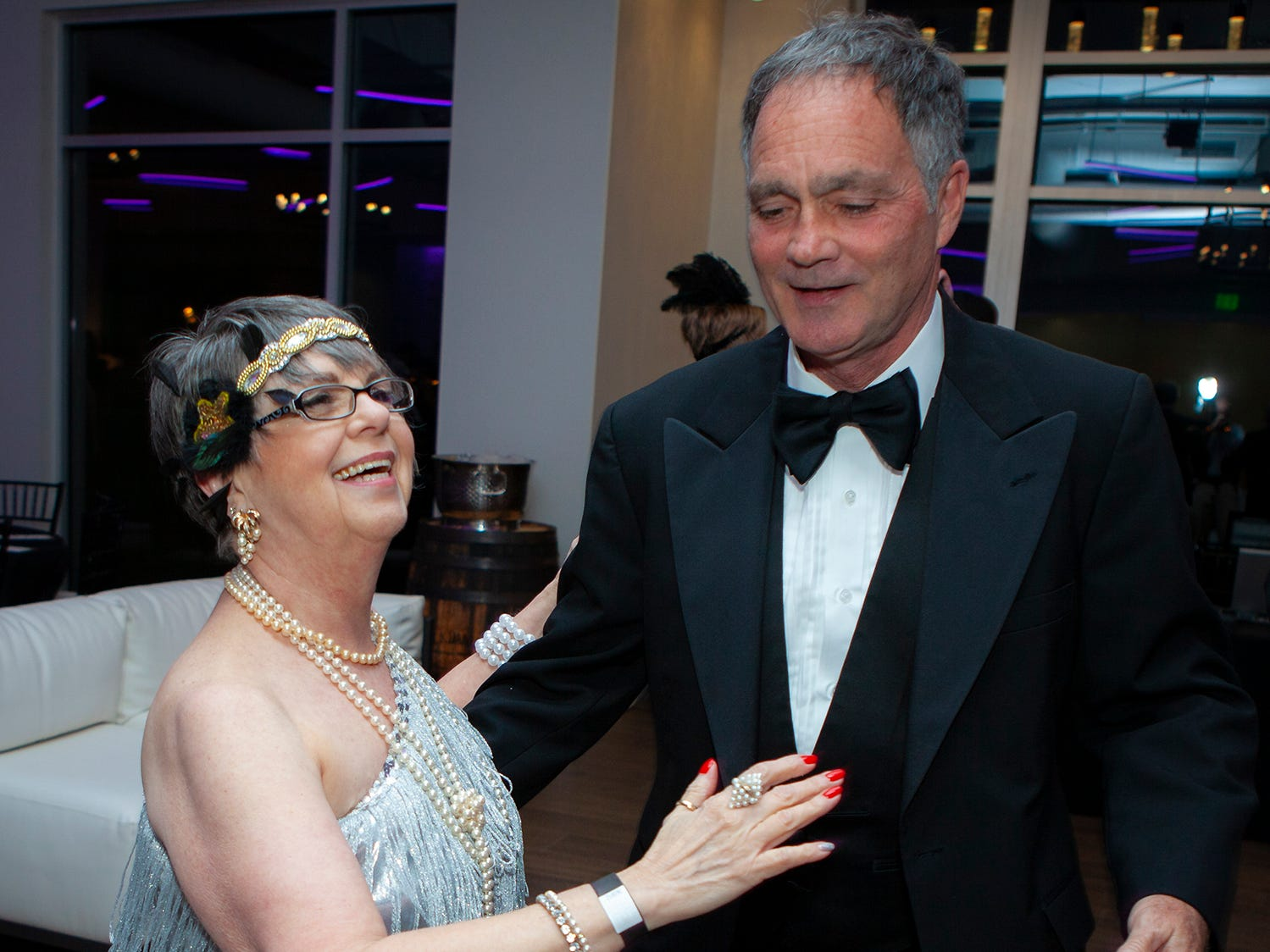 Janis Sauls and Oliver Tribble at The Gatsby Party, hosted by the Alzheimer's Association at The View at Fountains Saturday, March 16, 2019.