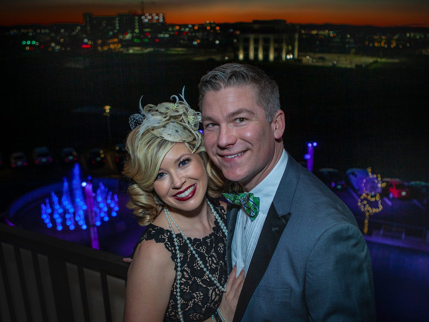 Chelsea and Gabriel Fancher at The Gatsby Party, hosted by the Alzheimer's Association at The View at Fountains Saturday, March 16, 2019.