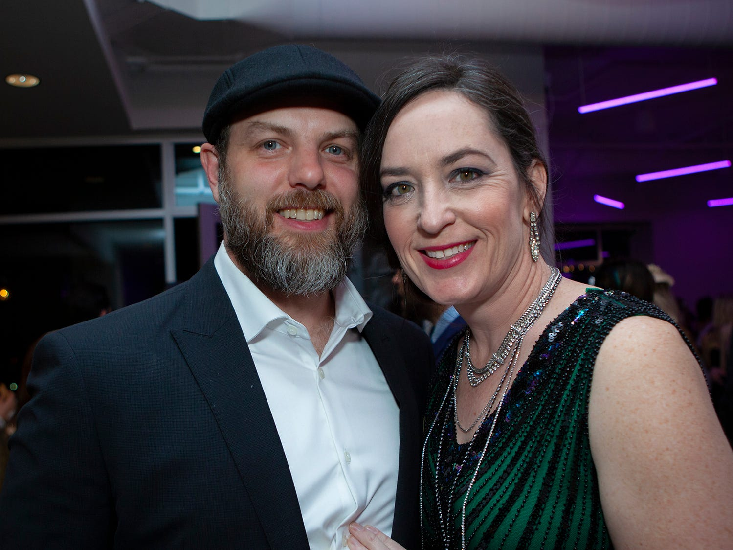 Shawn and Christy Hackinson at The Gatsby Party, hosted by the Alzheimer's Association at The View at Fountains Saturday, March 16, 2019.