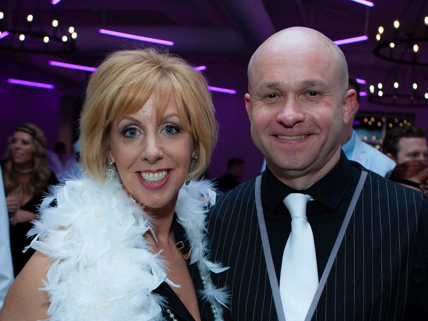 Jane Ogg and Craig Sewell at The Gatsby Party, hosted by the Alzheimer's Association at The View at Fountains Saturday, March 16, 2019.