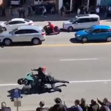 MNPD Sgt. John Bourque was injured after being struck and dragged by an ATV, one of the dozens of motorcycles and off-road vehicles that police say disrupted traffic in Nashville on Saturday, March 16, 2019.
