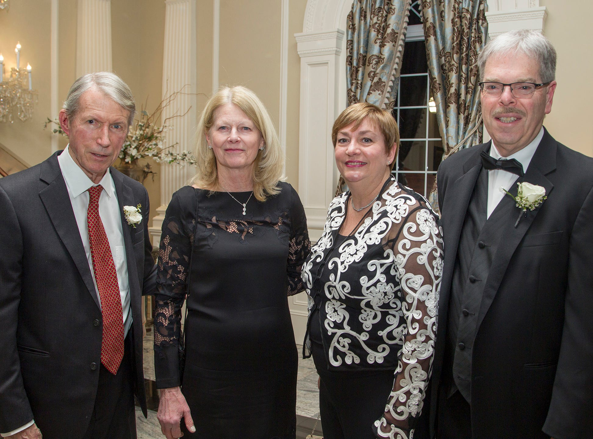 Peter and Pam McBride, Judy and Tom Shara. Ramapo College held its 37th Annual Distinguished Citizens Dinner at Rockleigh Country Club. 03/02/2019