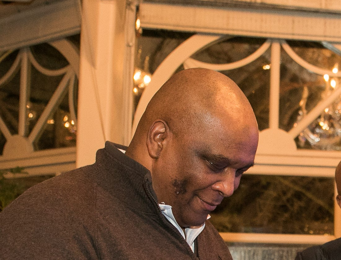 Former NY Giant Howard Cross. Rebuilding Together North Jersey held its third annual Beefsteak Dinner with former NY Giants Howard Cross, Amani Toomer, and Sam Garnes at the Brownstone in Paterson. 03/07/2019