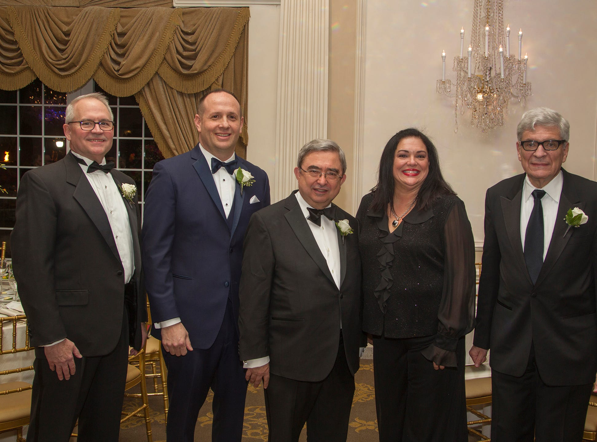 Lee Maas, Michael Hettesheimer, Dr.Peter P. Mercer, Marlene Caride, Ira Kaltman. Ramapo College held its 37th Annual Distinguished Citizens Dinner at Rockleigh Country Club. 03/02/2019