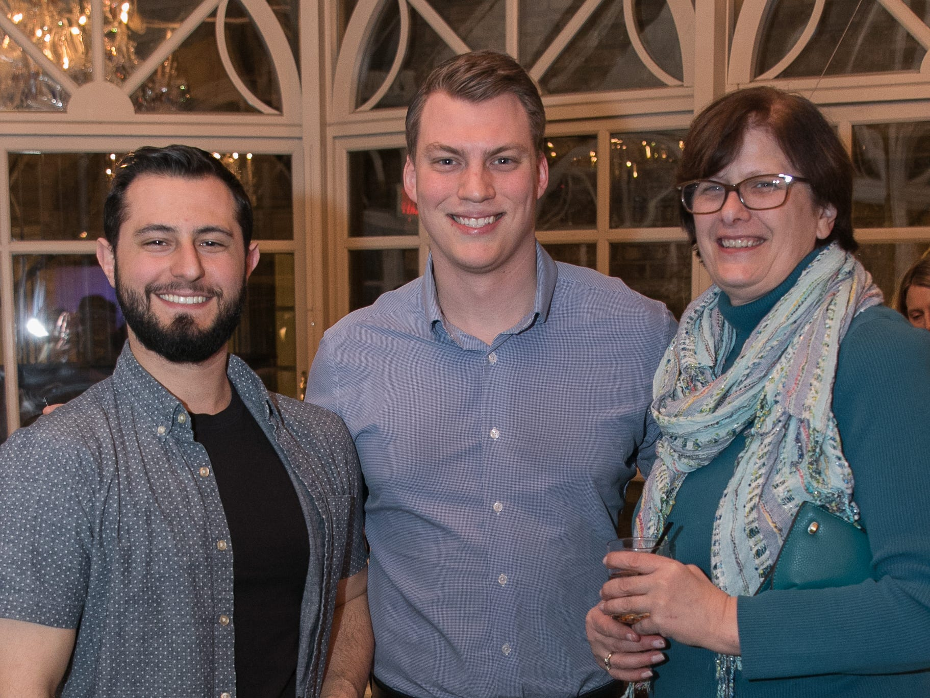 PJ Bellardino, Noah Busker, Barbara VanHassel. Rebuilding Together North Jersey held its third annual Beefsteak Dinner with former NY Giants Howard Cross, Amani Toomer, and Sam Garnes at the Brownstone in Paterson. 03/07/2019