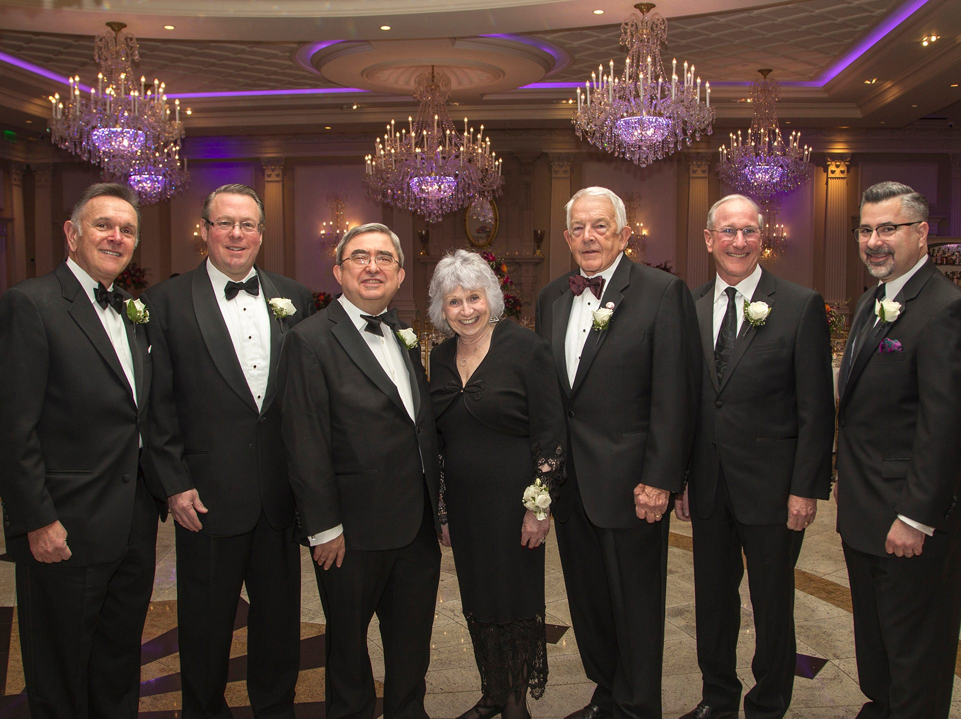 Ramapo Board of Trustees Lee Maas, Michael Hettesheimer, Dr.Peter Mercer, Marlene Caride, Ira Kaltman. Ramapo College held its 37th Annual Distinguished Citizens Dinner at Rockleigh Country Club. 03/02/2019