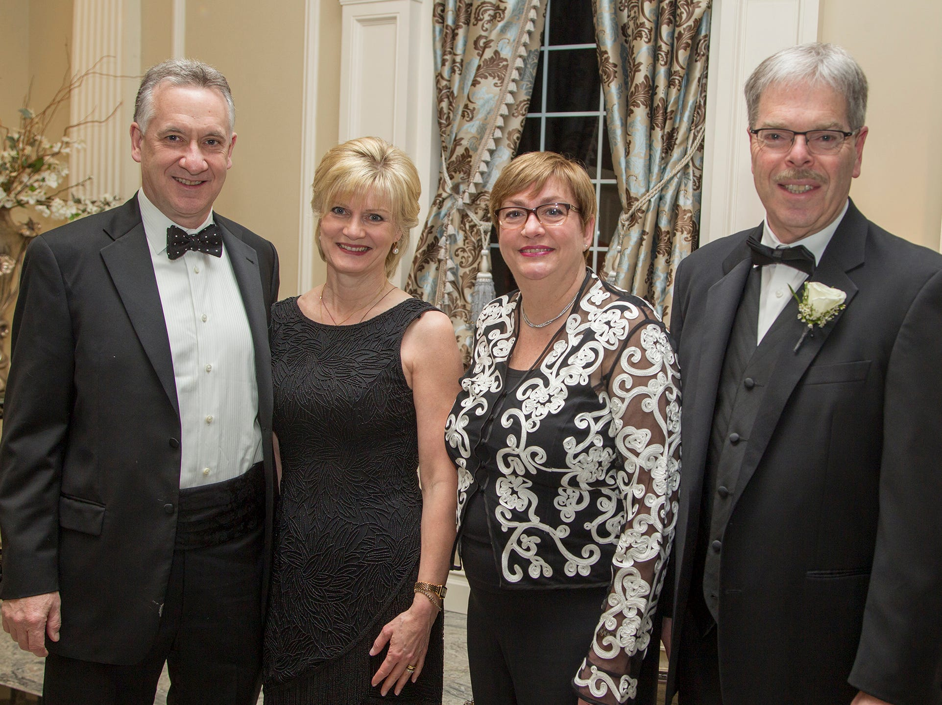 Brian and Diane Flynn, Judy and Tom Shars. Ramapo College held its 37th Annual Distinguished Citizens Dinner at Rockleigh Country Club. 03/02/2019
