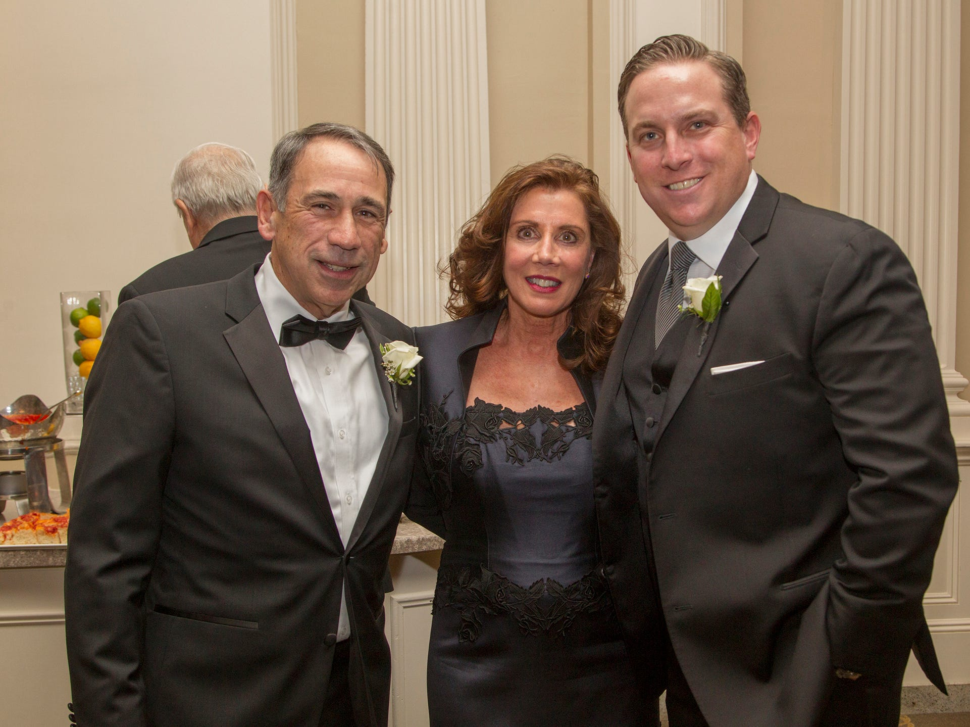 Roy Putrino, Debra Perry, Peter Seminara. Ramapo College held its 37th Annual Distinguished Citizens Dinner at Rockleigh Country Club. 03/02/2019