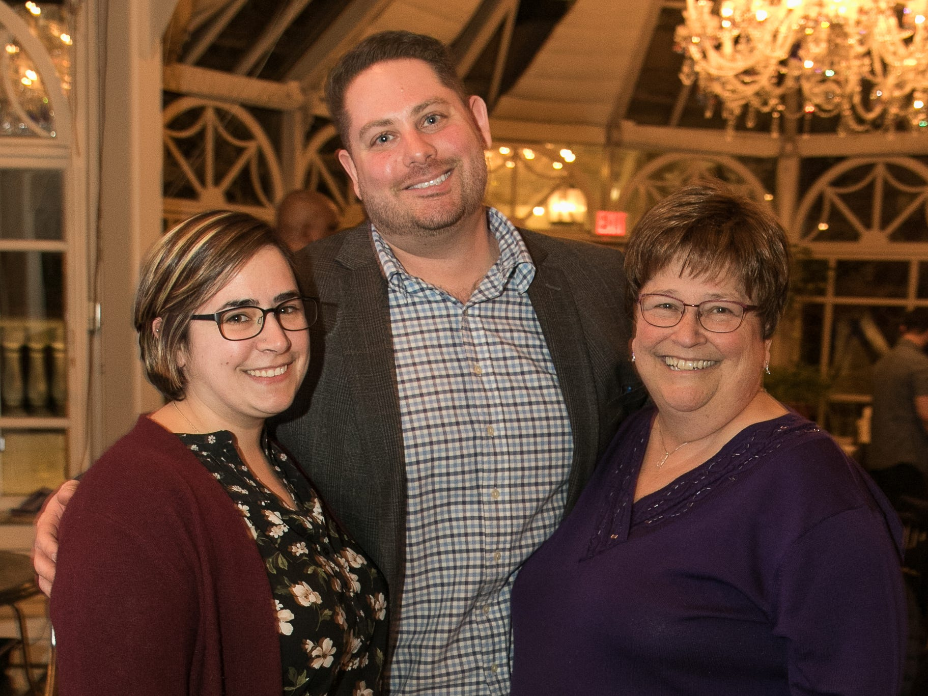 Megan Hartmann, Matt Lucivero, Nancy Mecca. Rebuilding Together North Jersey held its third annual Beefsteak Dinner with former NY Giants Howard Cross, Amani Toomer, and Sam Garnes at the Brownstone in Paterson. 03/07/2019