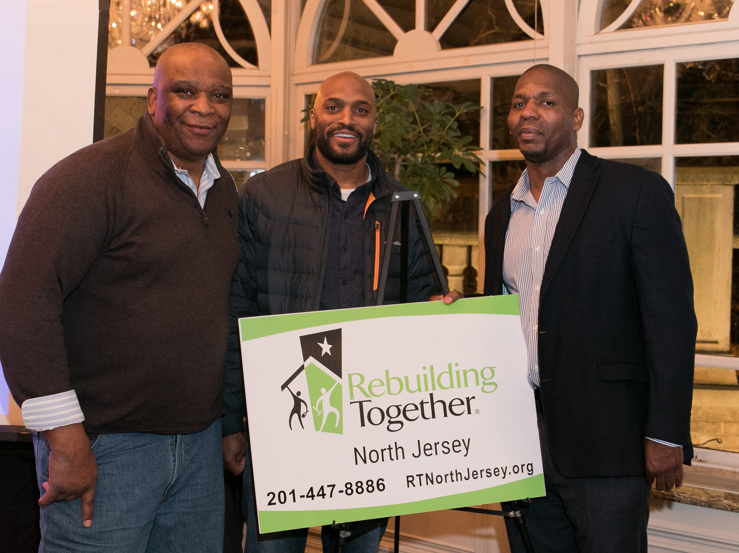 Former NY Giants Howard Cross, Amani Toomer and Sam Garnes. Rebuilding Together North Jersey held its third annual Beefsteak Dinner with former NY Giants Howard Cross, Amani Toomer, and Sam Garnes at the Brownstone in Paterson. 03/07/2019