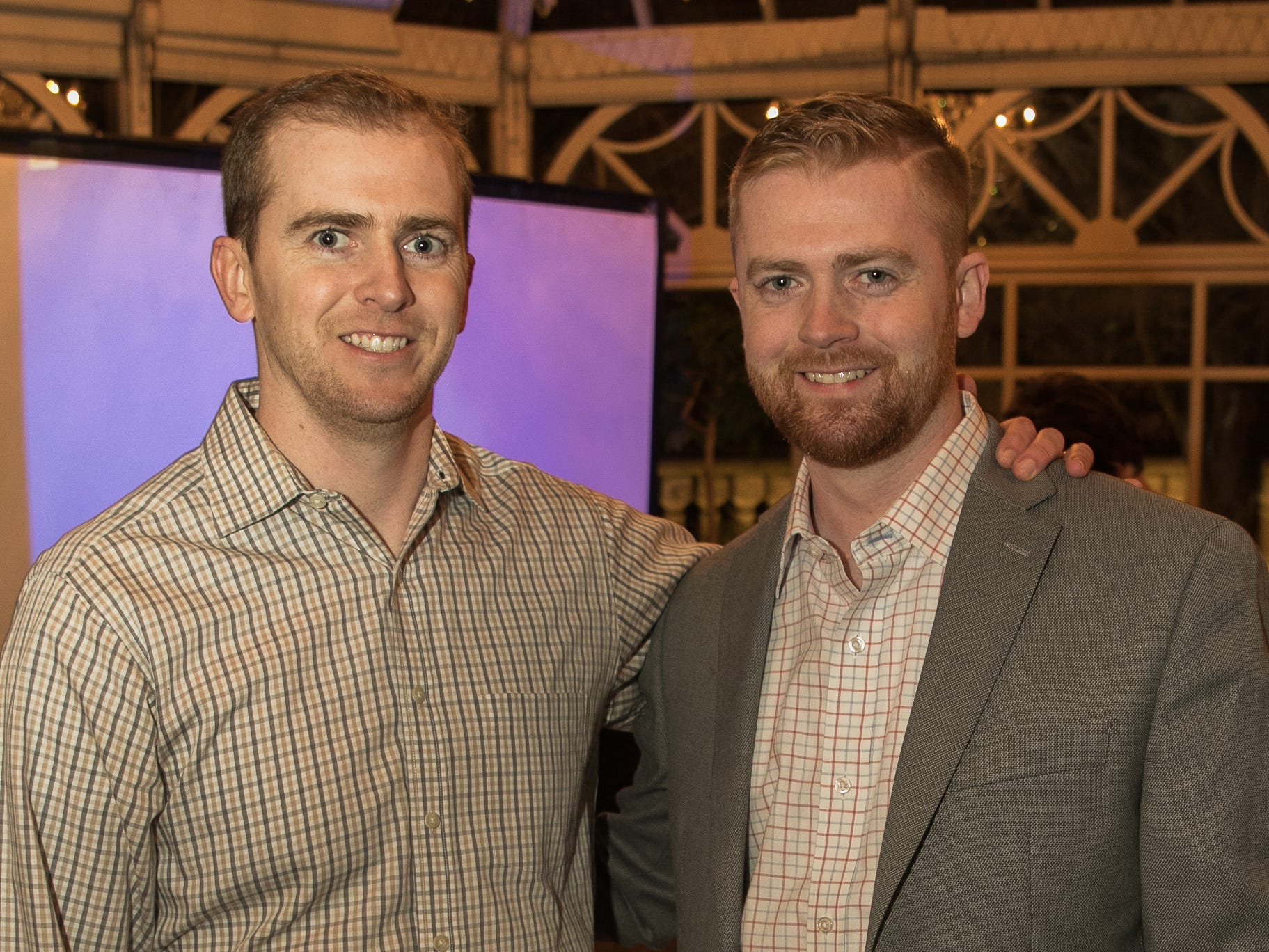 Kevin and Sean Cochran. Rebuilding Together North Jersey held its third annual Beefsteak Dinner with former NY Giants Howard Cross, Amani Toomer, and Sam Garnes at the Brownstone in Paterson. 03/07/2019