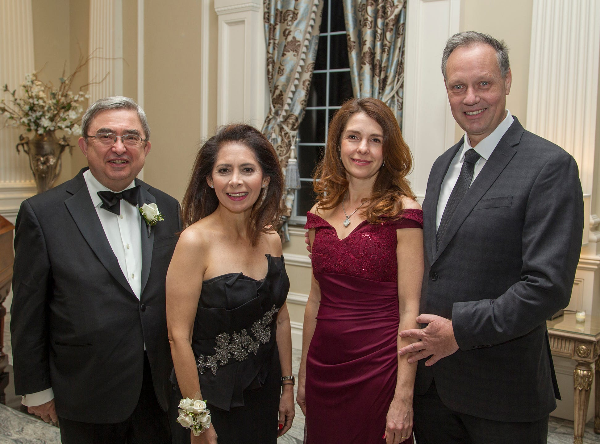 Dr.Peter Mercer, Dr. Jacqueline Ehlert-Mercer, Angela and Stefan Becker. Ramapo College held its 37th Annual Distinguished Citizens Dinner at Rockleigh Country Club. 03/02/2019