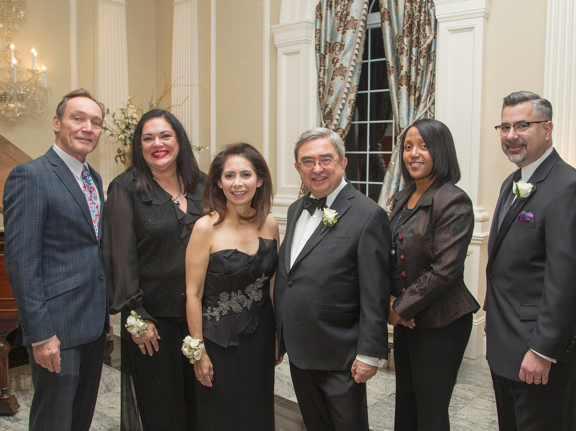 Tim Eustace, Marlene Caride, Dr.Jacqueline Ehlert-Mercer, Dr.Peter Mercer, Lynn Haynes, AJ Sabath. Ramapo College held its 37th Annual Distinguished Citizens Dinner at Rockleigh Country Club. 03/02/2019