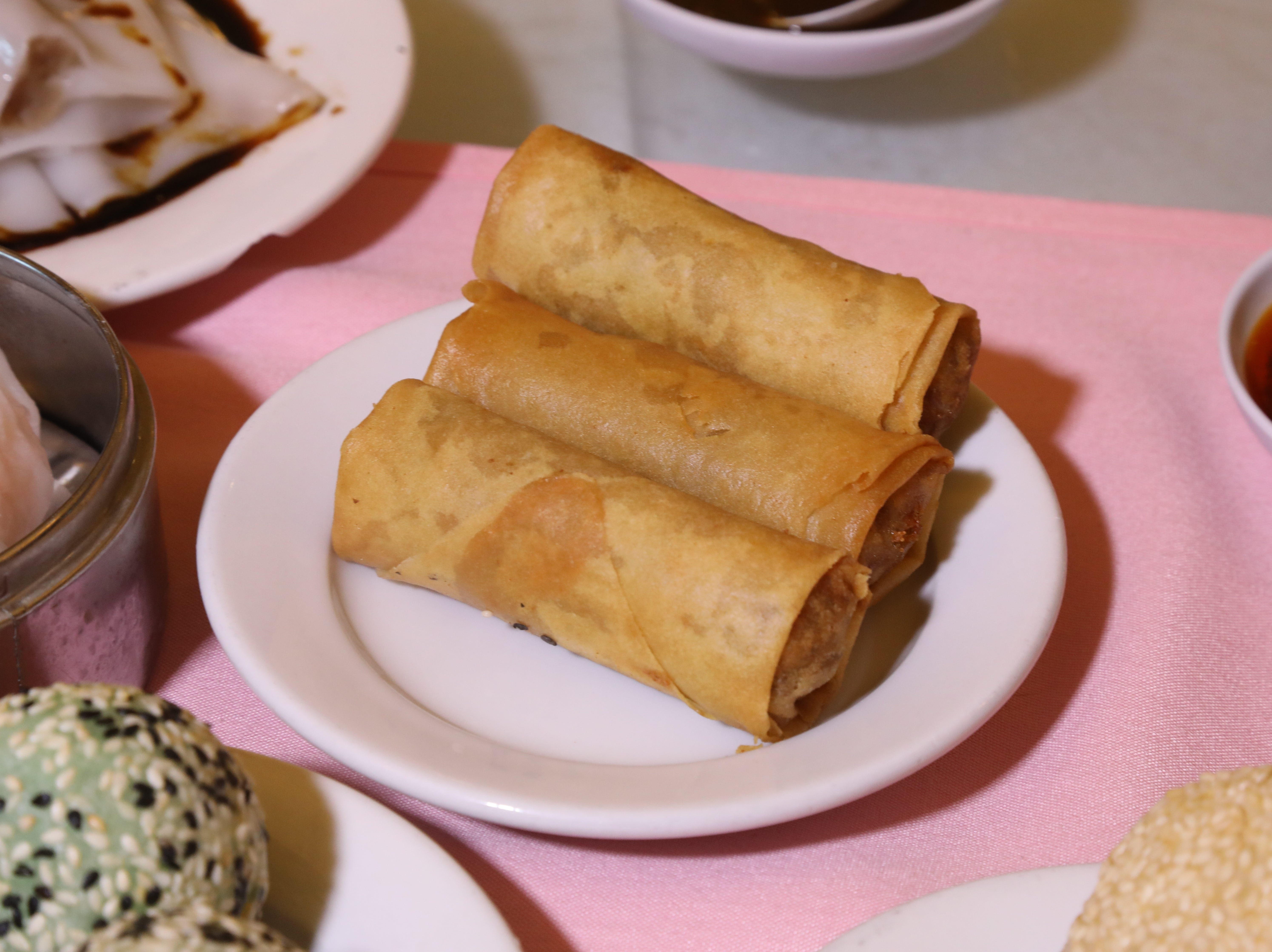 Spring rolls are part of the large selection of appetizers at Noodle Wong.