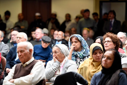 About 200 people attended the prayer for peace and healing, hosted by Dar-ul-Islah in Teaneck, where people of all faiths gathered to remember the 50 lives lost after gunmen opened fire in two mosques in Christchurch, New Zealand.
