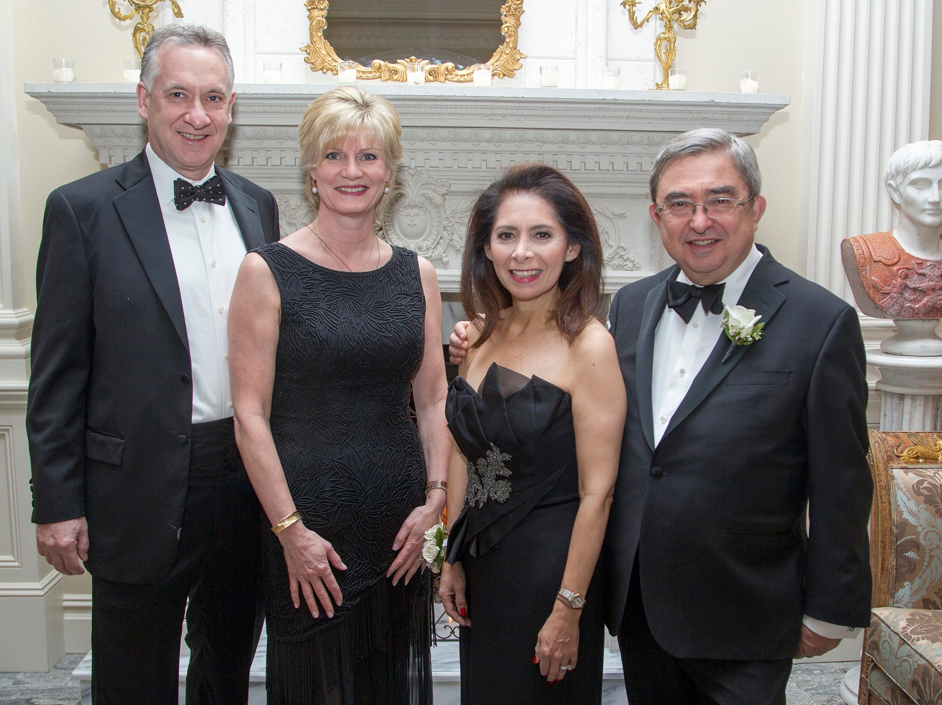 Brian and Diane Flynn, Dr. Jacqueline Ehlert-Mercer, Dr.Peter Mercer. Ramapo College held its 37th Annual Distinguished Citizens Dinner at Rockleigh Country Club. 03/02/2019