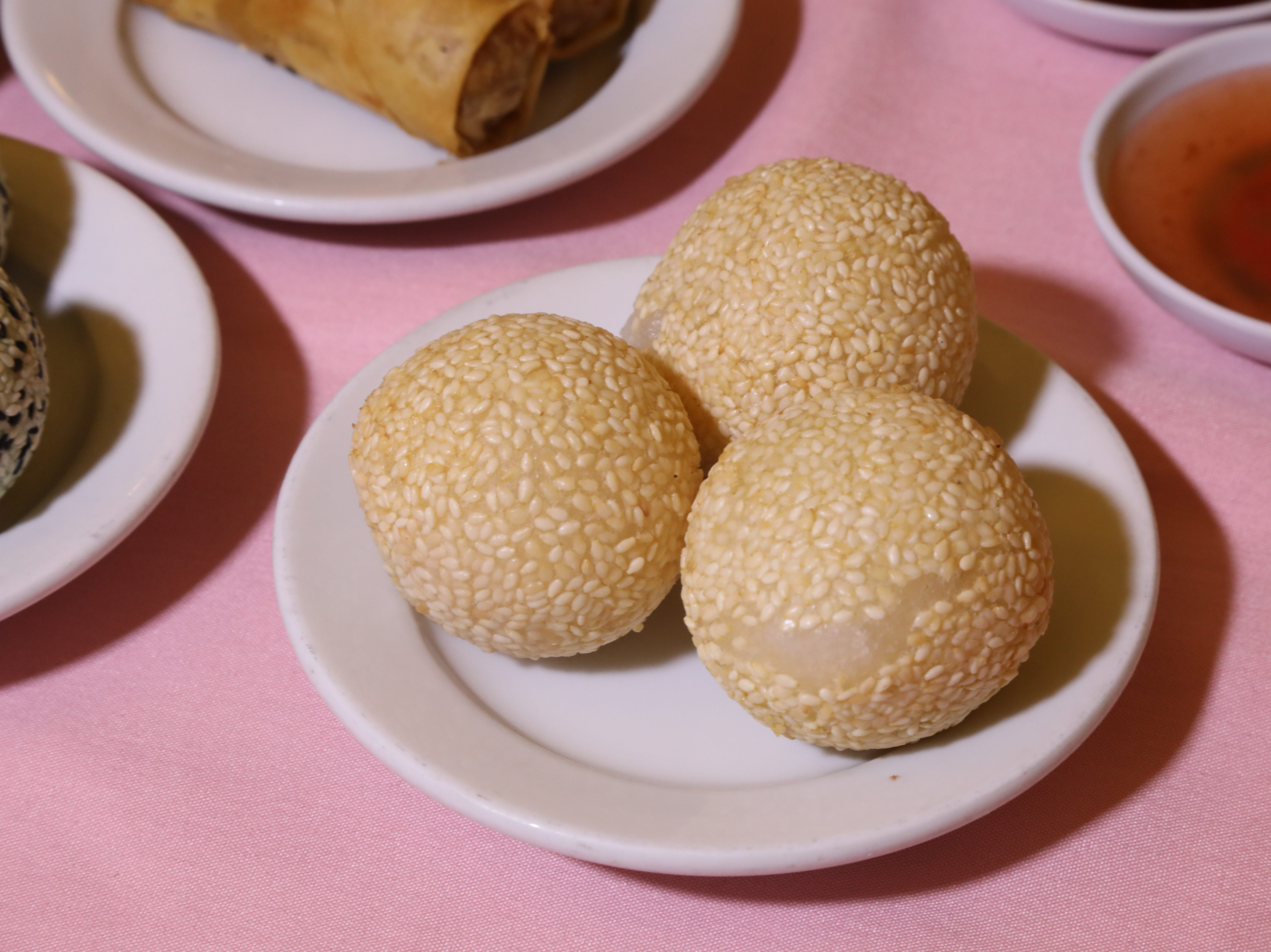 Sesame balls are part of a large selection of appetizers at Noodle Wong.