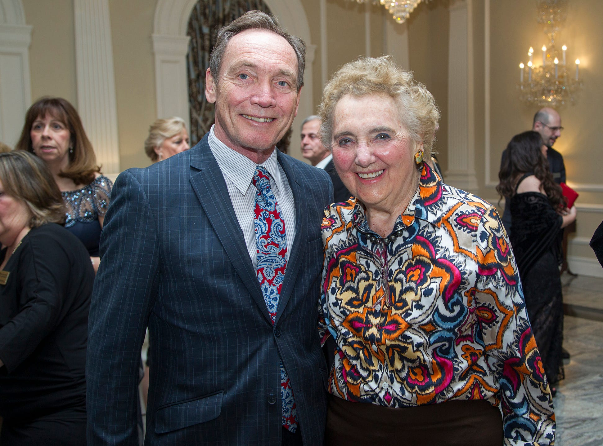 Tim Eustace and Elaine Adler. Ramapo College held its 37th Annual Distinguished Citizens Dinner at Rockleigh Country Club. 03/02/2019