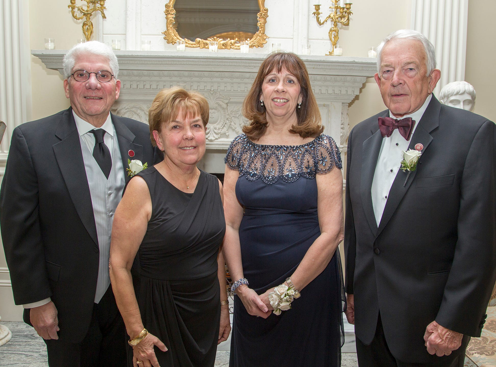 Ralph and Liz Mastrangelo, Cathleen Davey, William F. Dator. Ramapo College held its 37th Annual Distinguished Citizens Dinner at Rockleigh Country Club. 03/02/2019