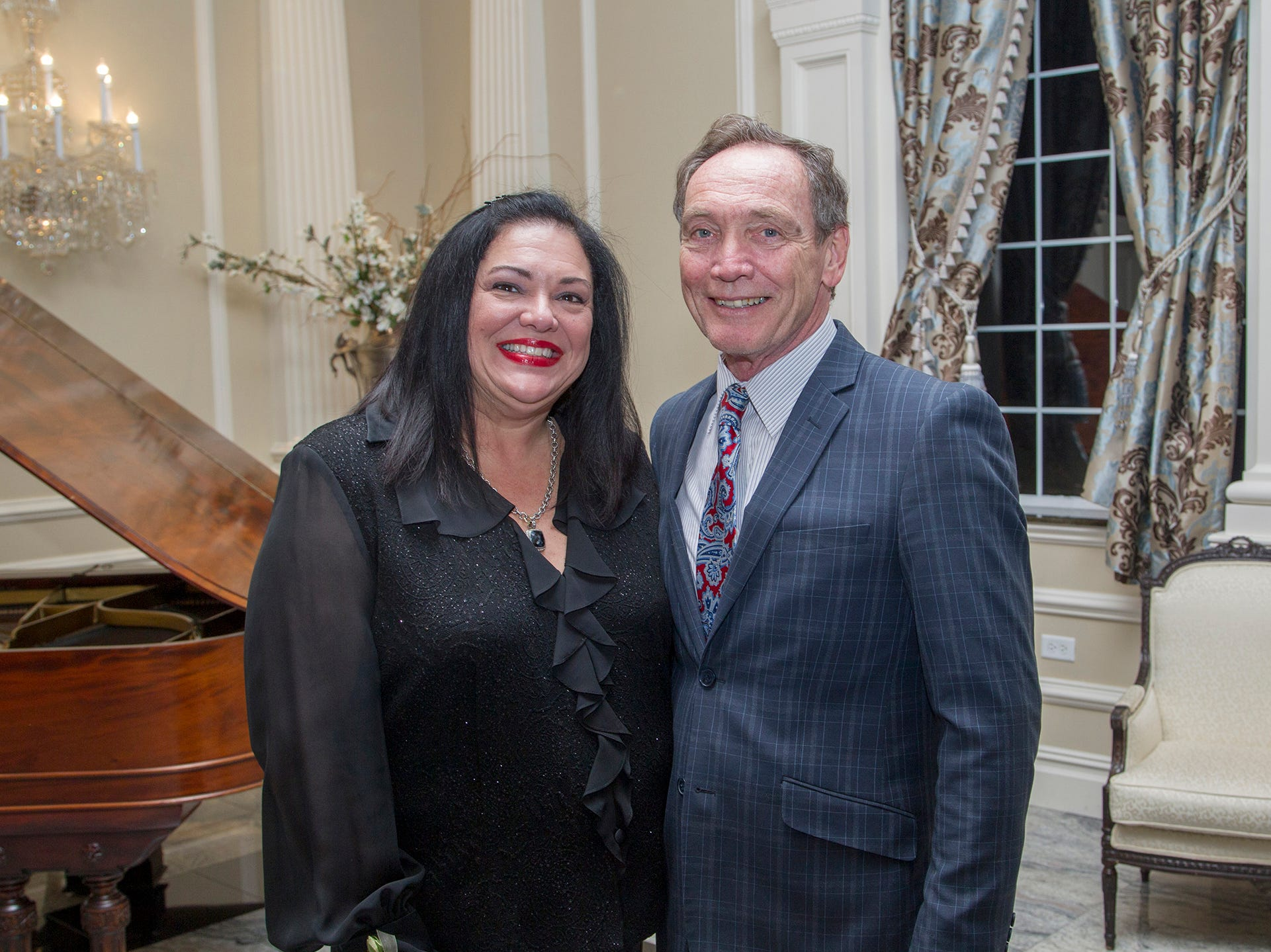 Marlene Caride and Tim Eustace. Ramapo College held its 37th Annual Distinguished Citizens Dinner at Rockleigh Country Club. 03/02/2019