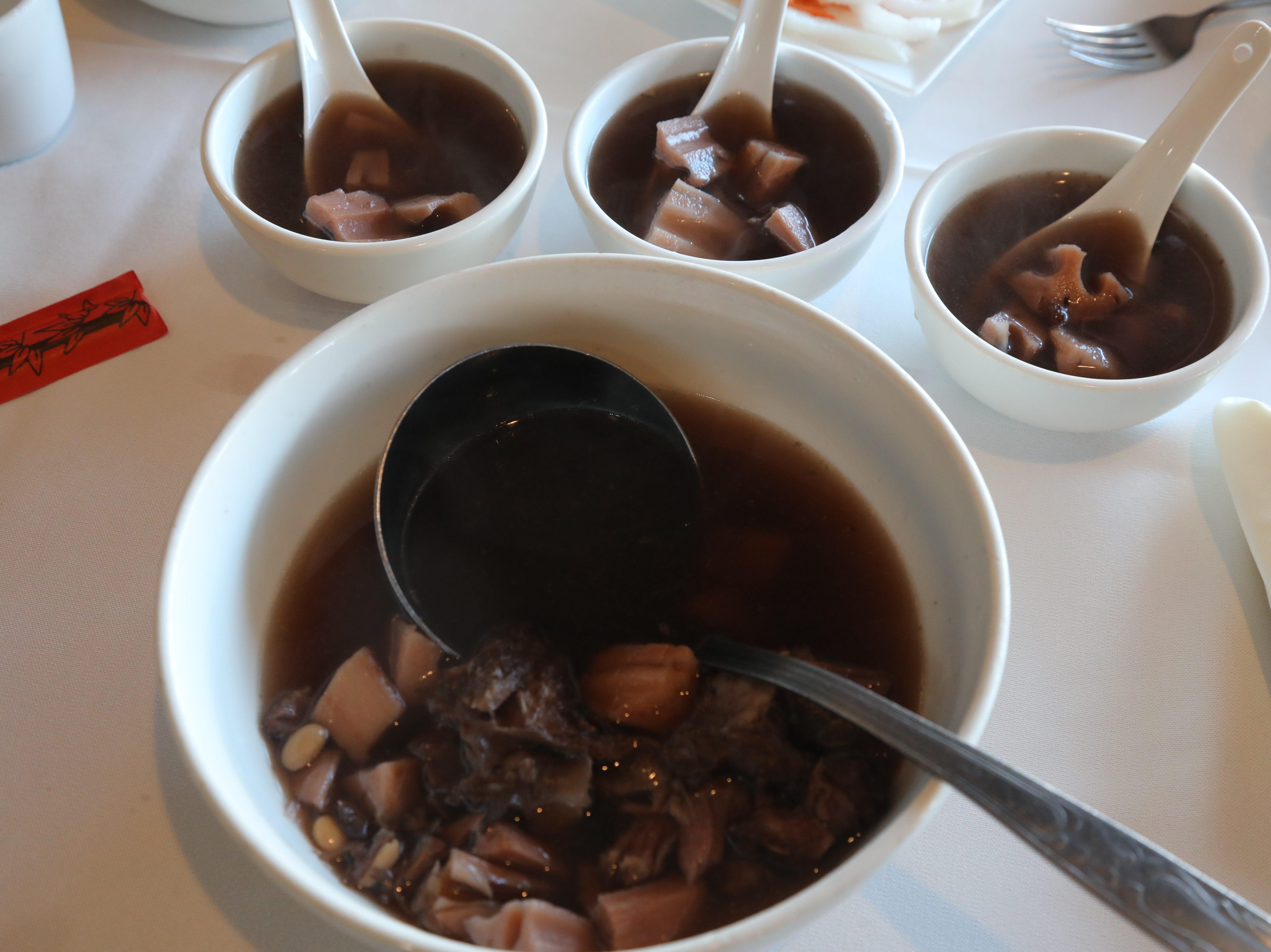 Soup at the Jasper Restaurant.