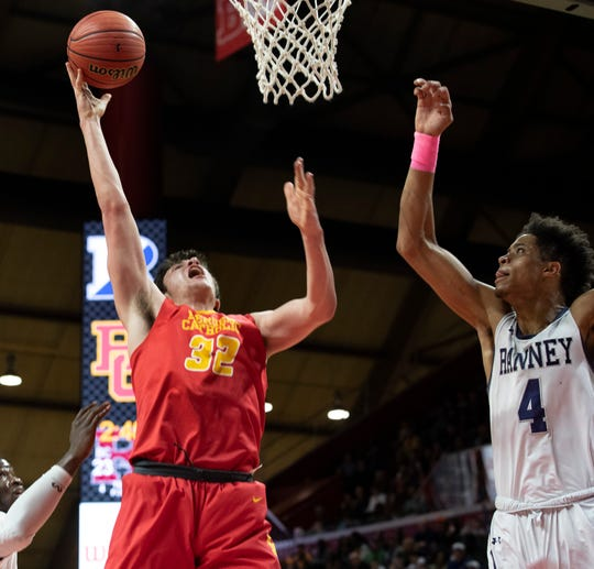 Bergen Catholic's Zachary Freemantle goes up with. fourth quarter shot. Bergen Catholic Boys Basketball vs Ranney in 2019 NJSIAA Tournament of Champions Boys Final in Piscataway, NJ on March 17, 2019.