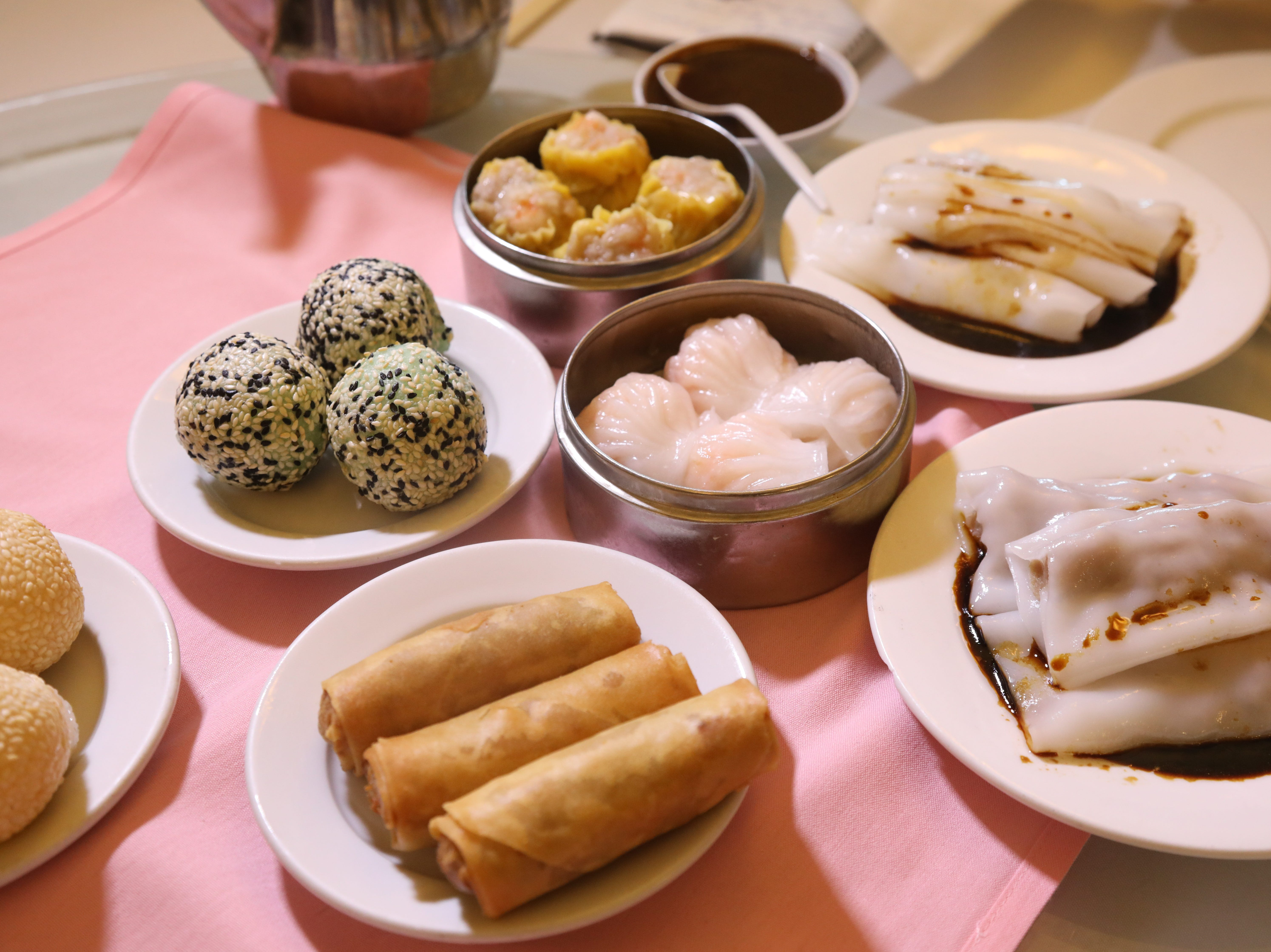 A large selection of appetizers at Noodle Wong.