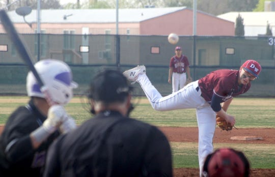 Junior Wildcat pitcher Creighton Apodaca worked the first four innings against Miyamura on Friday.