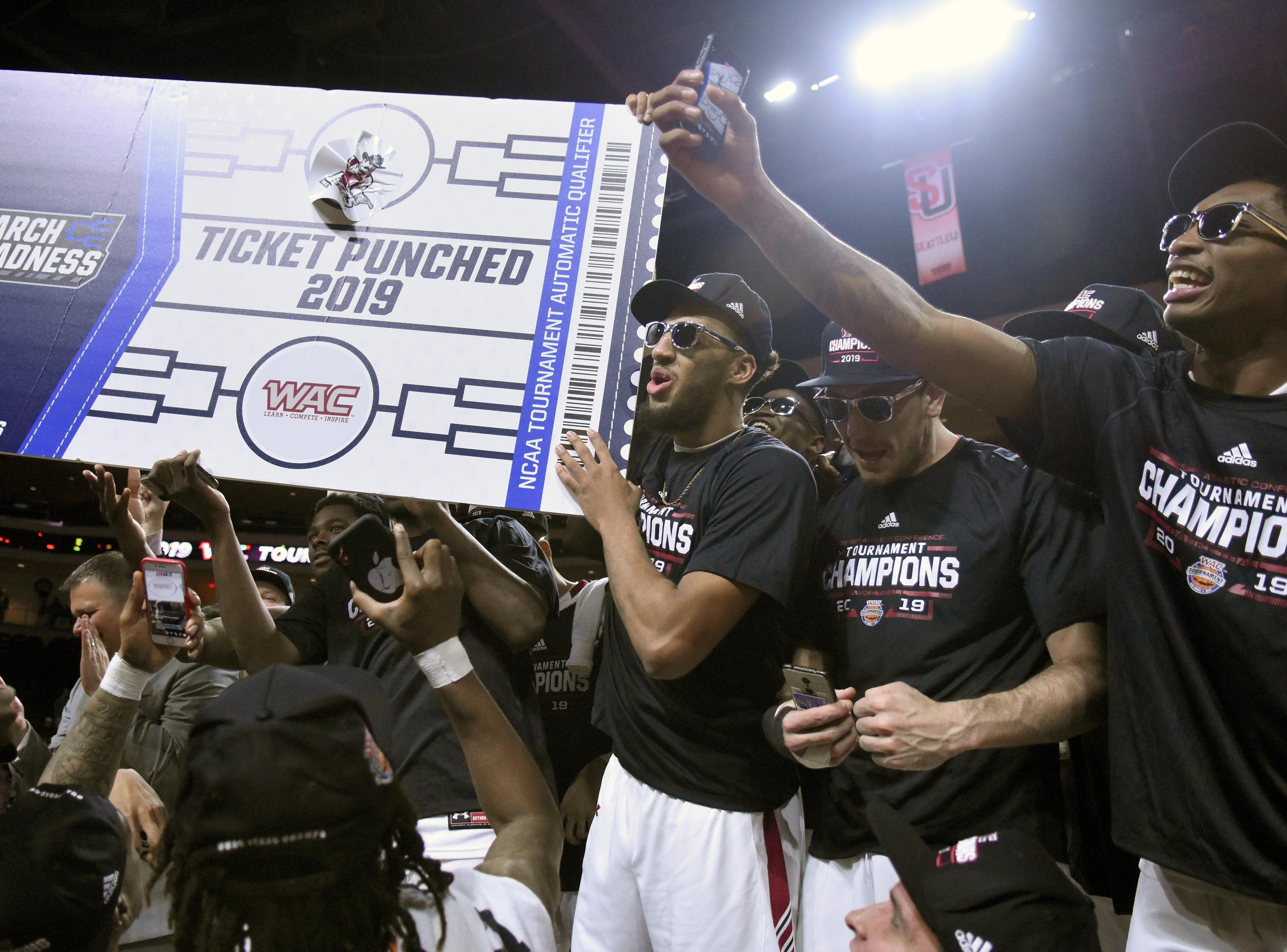 New Mexico State won its third straight WAC Tournament championship.