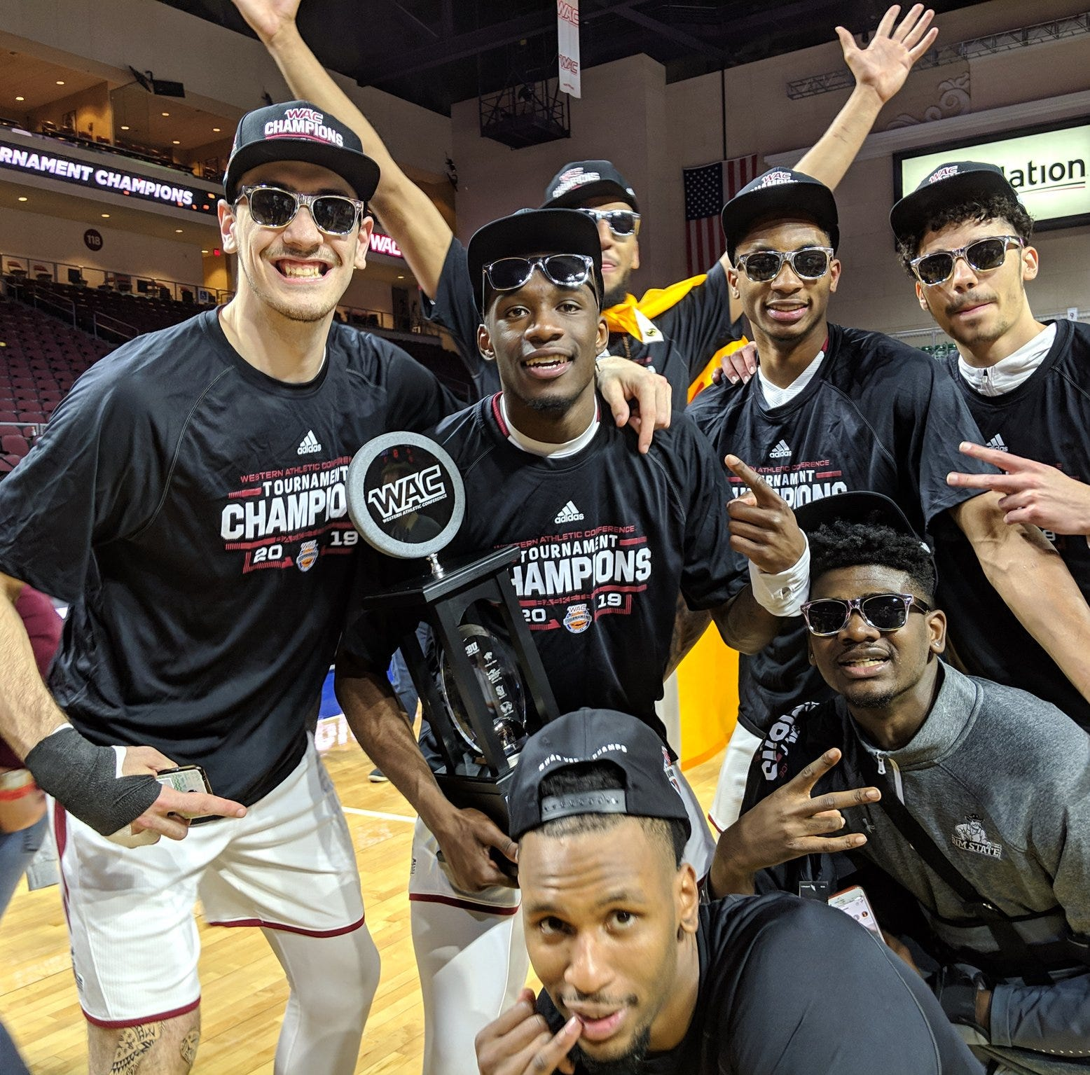 WAC Tournament 2019: See New Mexico State celebrate reaching the NCAA Tournament