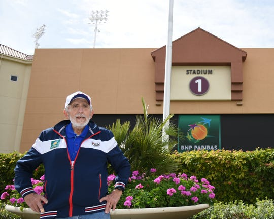 George Anich, tournament director and founder of the BNP Paribas Open Senior Cup, is in his 26th year running the event.