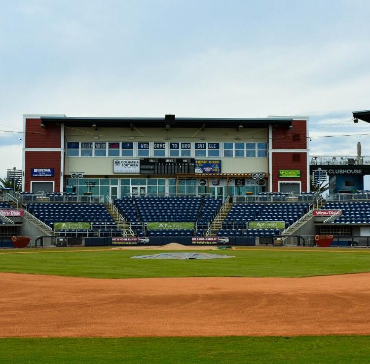 Blue Wahoos Stadium infield area gets quick makeover