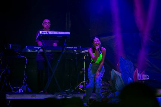 Jhene Aiko performed at Pot of Gold Music Festival at Steele Indian School Park on Saturday, March 16, 2019.