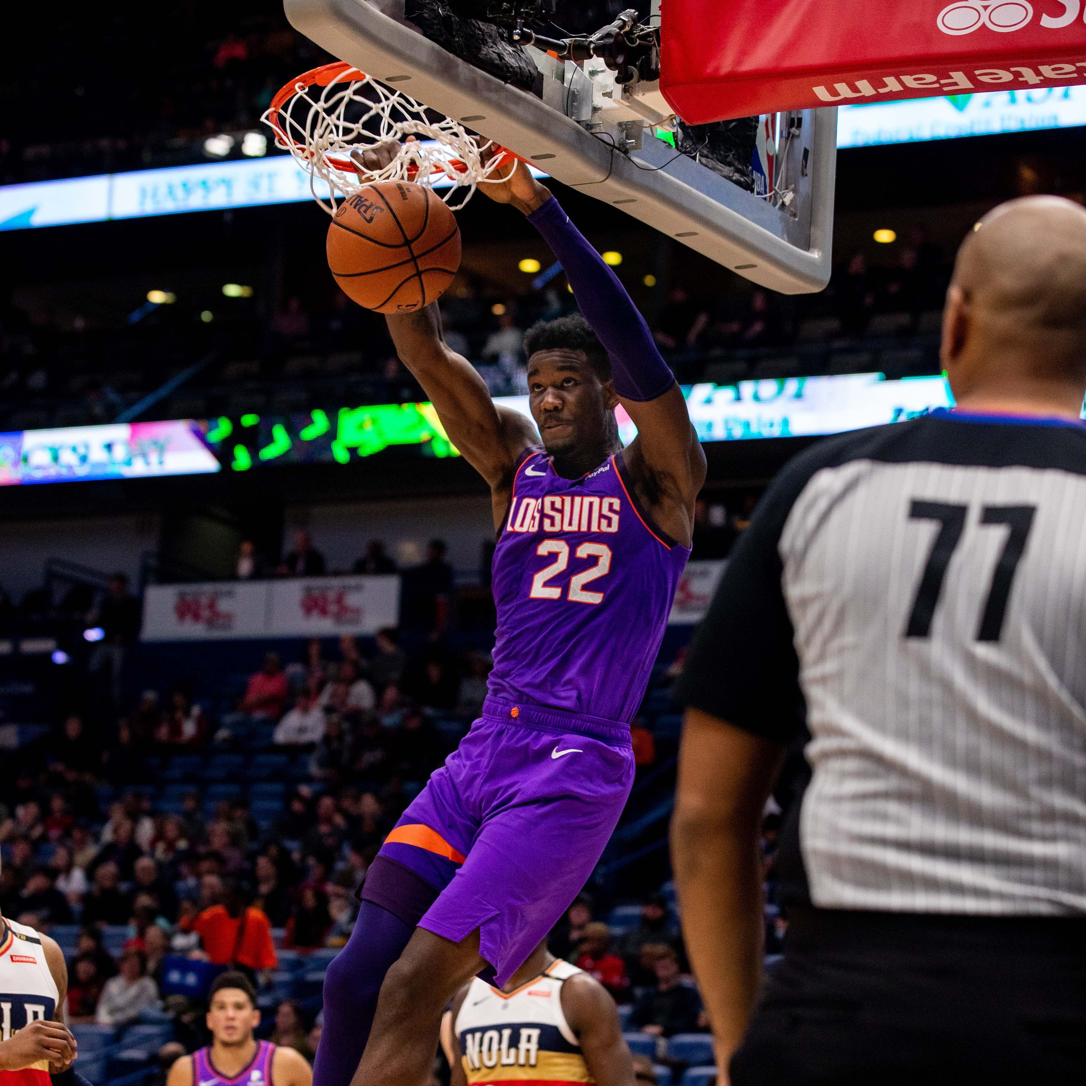 Phoenix Suns rookie Deandre Ayton's first career ejection met with amazement
