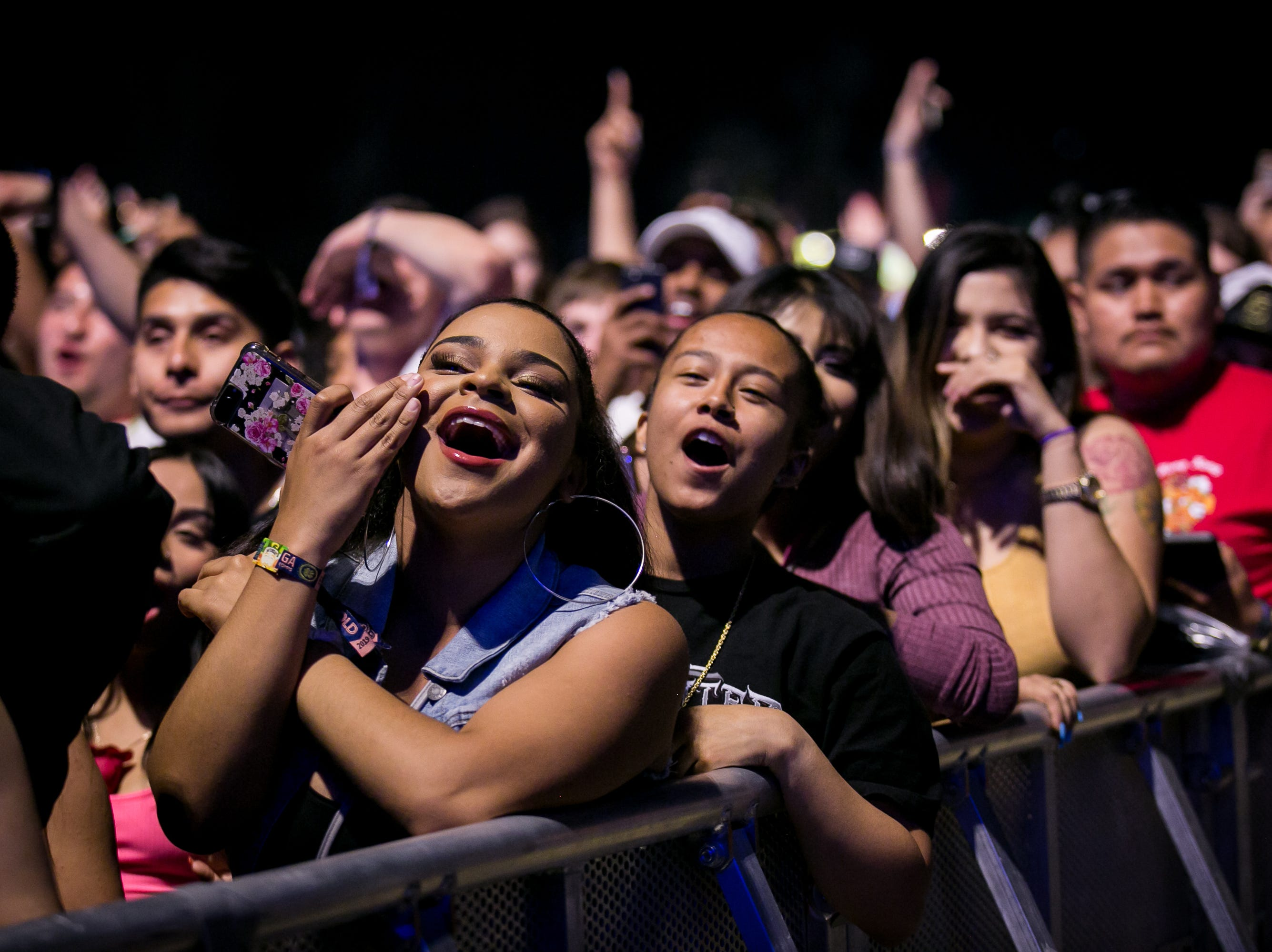 Fans cheer on Kodak Black during Pot of Gold Music Festival at Steele Indian School Park on March 16, 2019.