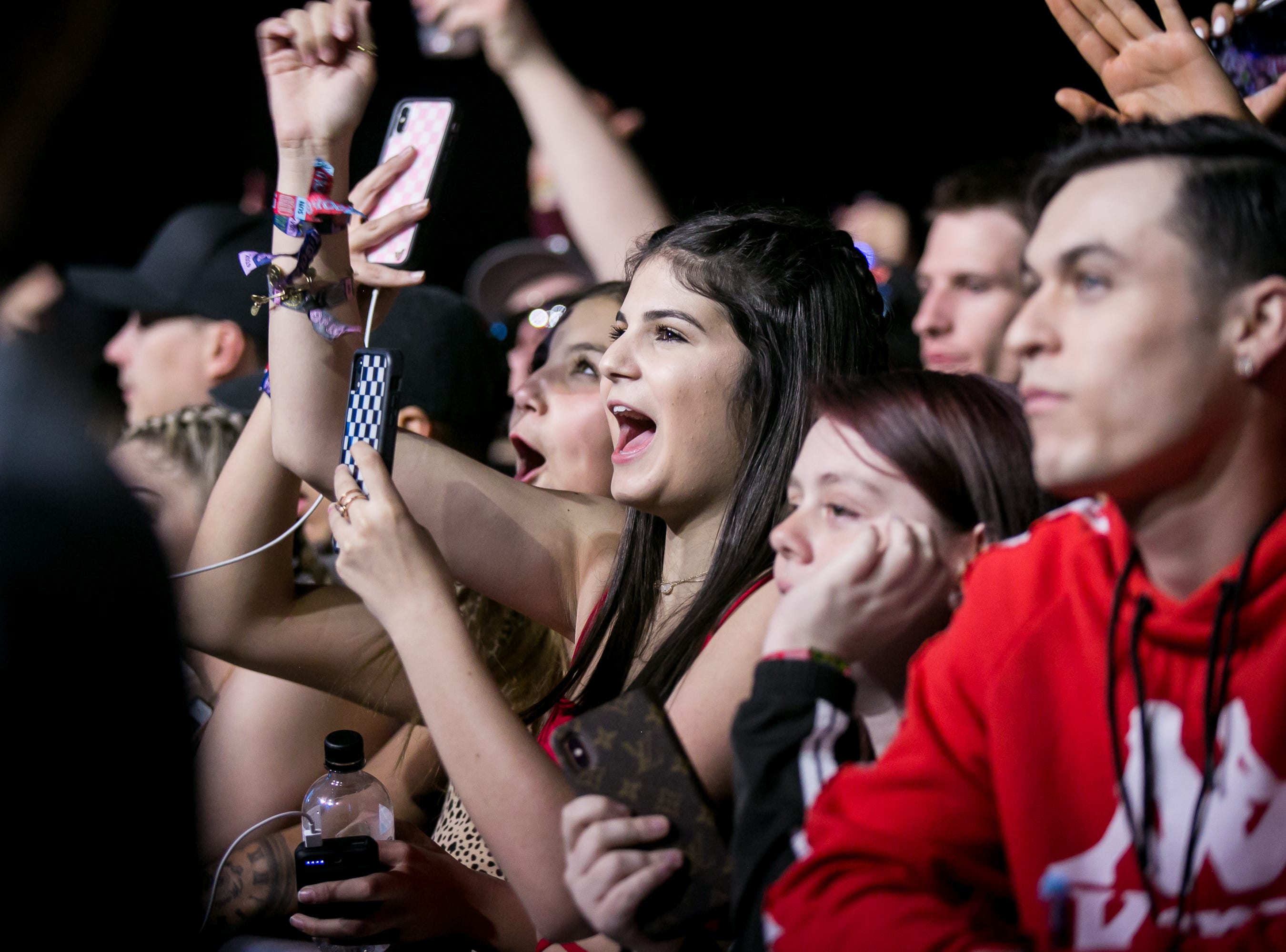 Attendees watch Kodak Black perform during Pot of Gold Music Festival at Steele Indian School Park on March 16, 2019.